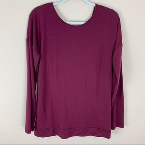Banana Republic Maroon Wrap Back Blouse Size LG